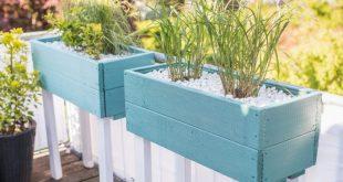 DIY - Pflanzgefäß als Sichtschutz für den Balkon