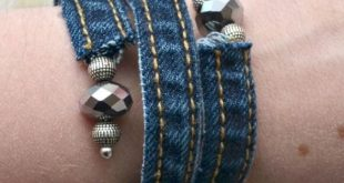 Denim DIY Wickelarmband