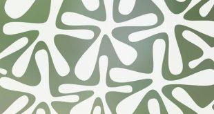 Groovy Amoeba Blickschutzfolie (nicht klebend) - Standard 36 Zoll x 48 Zoll