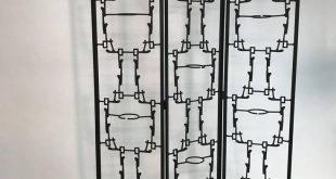 Moderner Brutalist-abstrakter Raumteiler-Mitte des Jahrhunderts Schirm