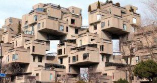 Montreal - 12-stöckiger Apartmentkomplex, entworfen vom Architekten Moshe Safdie