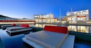 Mykonos, Kalo Livadi € 36.000 pro / 3Tage Gäste: 25 Schlafzimmer: 14 Badezimmer: L ...