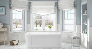 OVE Decors Kennedy 63 in. Freistehende Badewanne aus Acryl mit flachem Boden in Weiß