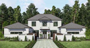 Plan 510093WDY: Privater zweistöckiger Hausplan mit großer Terrasse auf der Rückseite