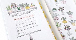 Plant Printable Planner Aufkleber, dekorative Floral Bullet Journal Aufkleber, druckbare Aufkleber für die Dekoration der täglichen Planer Layouts