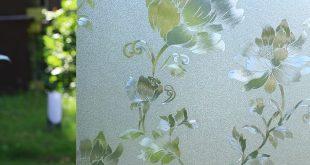 Privatsphäre Fensterfolie Glasaufkleber Abnehmbare statisch haftende dekorative Fensterfolie ...