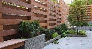 Schachbrettartige Privatsphäre - modernes Gartendesign