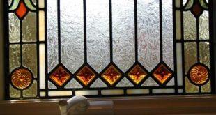 Sichtschutzfenster für Badezimmer aus Visconti-Glasmalerei