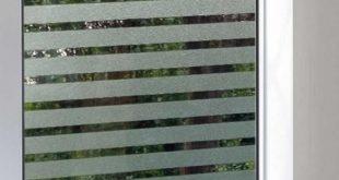 Statisch haftende Streifen Sichtschutzfolie Glasabdeckfolie für alle Arten von glatten Glasoberflächen 1