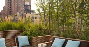 Terrassenbegrünung auch als eine Art Privatsphäre