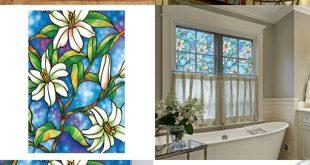 [Visit to Buy] PVC Sichtschutz Fenster Dekorfolien Orchidee Fensterfolie ...
