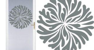 Wappen 4 DIY geätztem Glas Vinyl - Fenster Folie Privatsphäre - Duschtür - Badezimmer Decals - Haustür - Fenster Dressing - geätztem Glas Aufkleber