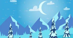 Winterbäume vektorisiert für Photoshop