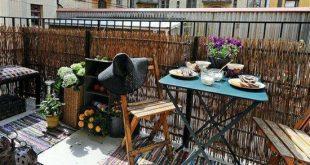 kreative balkon datenschutz ideen terrasse bambusgeländer